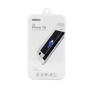 Mica De Cristal Templado Para Iphone 7/8 Blanco