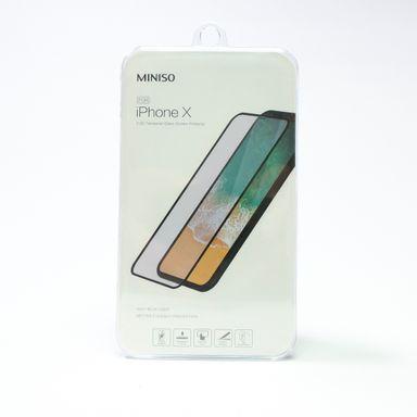 Mica De Cristal Templado 2.5D Para Iphone X Negro