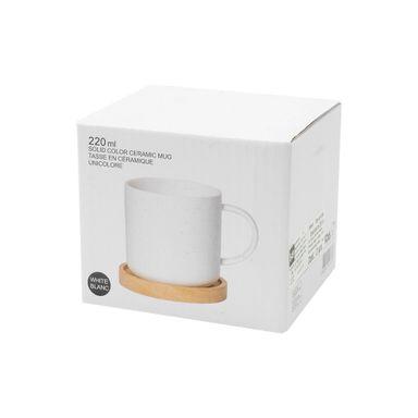 Taza De Ceramica Blanco 220 Ml