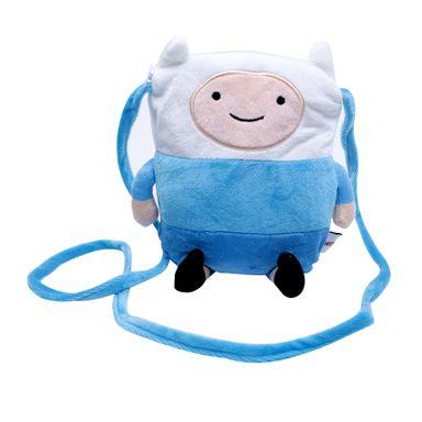 Funda Tipo Bolso Para Celular De Finn Azul-Blanco - Adventure Time ADVENTURE TIME