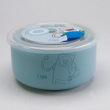 Contenedor De Ceramica Finn Azul 600 Ml - Adventure Time ADVENTURE TIME