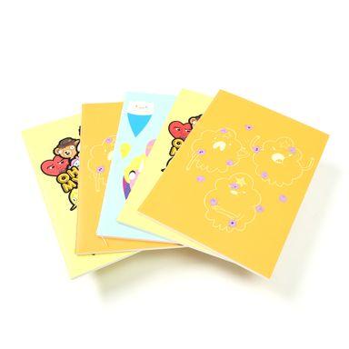 Paquete De Libretas De Notas Adventure Time De Raya Punto y Blanca A6 De Colores 5 Piezas