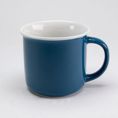 Taza De Ceramica Azul Fuerte 350 Ml