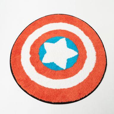 Tapete Original Marvel Escudo Capitán América Redondo 60 cm
