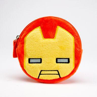 Monedero Circular Marvel Iron Man Felpa Naranja 12 cm