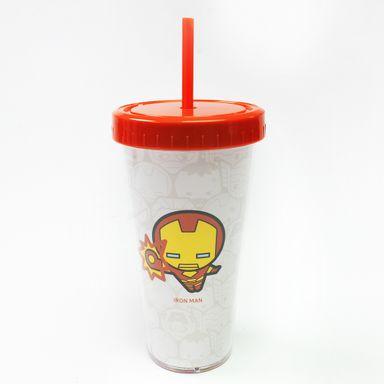 Vaso De Plastico Con Bombilla Iron Man  420 Ml - Marvel MARVEL