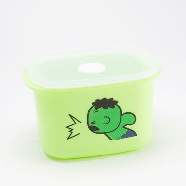 Contenedor Marvel Hulk Para Alimentos, De Plástico Verde 400 ml
