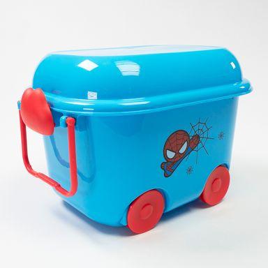 Caja De Plastico Para Almacenamiento En Forma De Carrito Spiderman  - Capacidad 5,5 Lts MARVEL