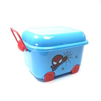 Caja De Plastico Para Almacenamiento En Forma De Carrito Spiderman  - Capacidad 9,6 Lts MARVEL