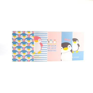 Paquete De Libreta De Notas A6  5 Pzas- Penguin Series