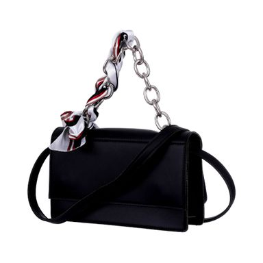 Bolsa Crossbody Fashion Chain Scarf Negro 12*20Cm