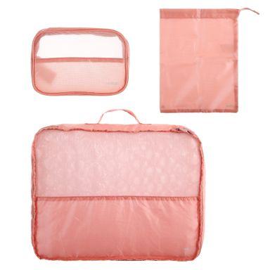 Organizador De Viaje Para Ropa Rosa 3 Pzas-Minigo 2.0 Minigo 2.0 3 Piezas