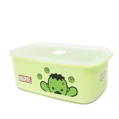 Contenedor Marvel Hulk Para Alimentos, De Plástico Verde 950 ml