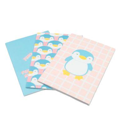 Paquete De Libreta De Notas A5 3 Pzas- Penguin Series