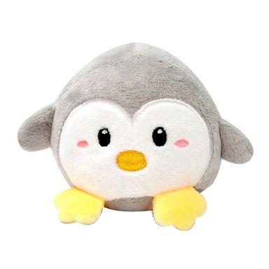 Peluche De Pingüino Con Sonido Gris  11*8 Cm