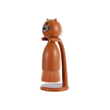 Cepillo Limpiador Facial We Bare Bears Pardo Con Soporte WBB