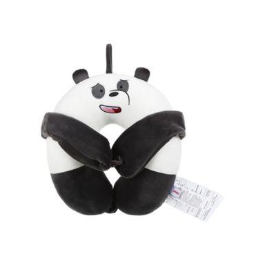 Almohada Para Viaje Con Antifaz  We Bare Bears Panda Blanco WBB