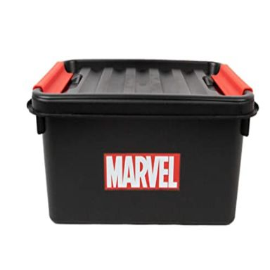 Caja De Plastico Para Almacenamiento Negro  MARVEL