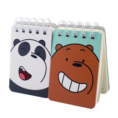 Paquete De Libreta De Notas We Bare Bears Con Espiral 100 Hojas 2 Piezas WBB
