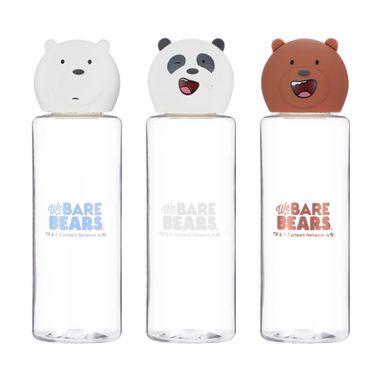 Set De Botellas We Bare Bears Para Viaje, 3 Piezas WBB
