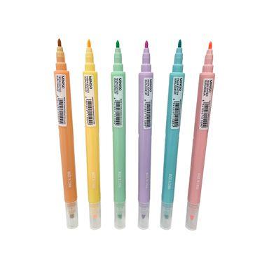 Paquete De Marcatexto Color Pastel Jhon Shen 6 Pzs