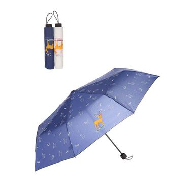 Paraguas Con Estampado De Ciervo (Blanco o Azul), Podrás Recibir Alguno De Los Productos En Las Imágenes Según Stock