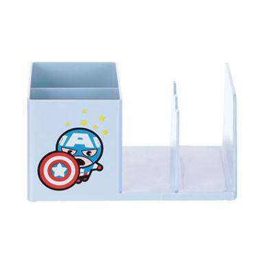 Organizador Marvel Capitán América Para Escritorio, Plástico 19 x 13 cm