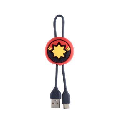 Cable Tipo C  Capitana Marvel 20 Cm - Marvel MARVEL